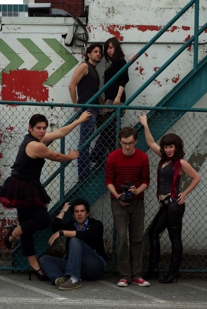 Fighting Chance Production's cast of Rent; Clockwise from top left, Craig Decarlo, Christine Quintana, Jacqueline Breakwell, Anton Lipovetsky, Nick Fontaine and Cesar Erba.